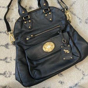Emma Fox Black Leather Handbag